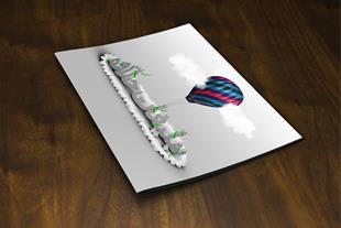 طراحی گرافیکی جلد مجله تبلیغاتی