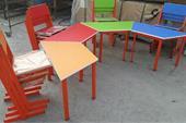 میز و صندلی ذوزنقه مهد کودک