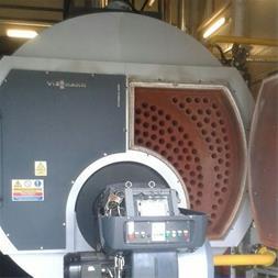 دیگ بخار 5 تن بخار  تعمیر شده با لوله های آتشخوار