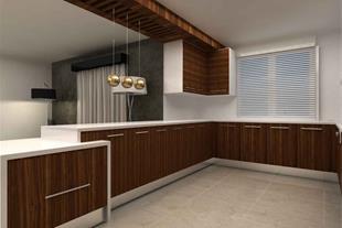 طرح کابینت گلاس با آشپزخانه مدرن و لاکچری