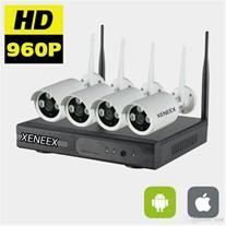پکیج کامل 4 عدد دوربین آی پی و دستگاهNVR4 بطور کام