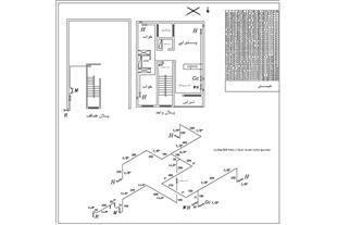 آموزش نقشه کشی گاز ساختمان با اتوکد