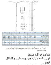 پایه چراغ لوله ای و پایه توزیع نیرو , پایه فنس