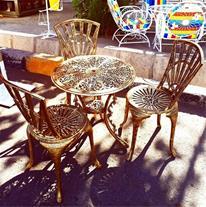 فروش صندلی پرشین تمام آلومینیم پتینه شده