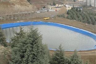 احداث استخر ذخیره آب کشاورزی پلیمری ( ژئوممبران )