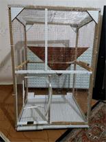 فروش قفس دست ساز پرندگان معاوضه با قناری