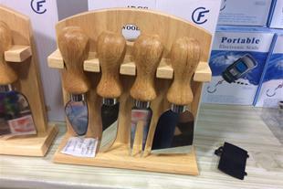 چاقوی کره و پنیر با پایه چوبی
