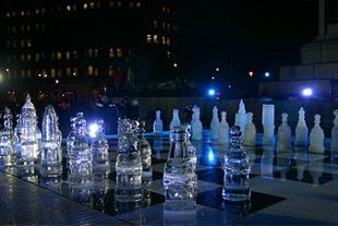 شطرنج شیشه ای شیک و فانتزی