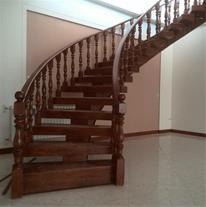 طراحی ، ساخت و نصب پله چوبی