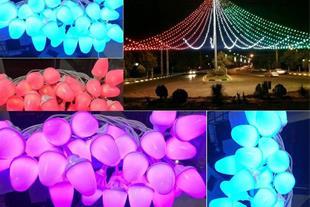 تولید و پخش ریسه های حبابی LED