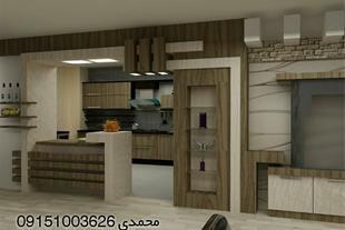 طراحی واجرای انواع کابینت همراه با طراحی3d