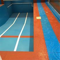 اجرای آب بندی رنگی کف تراس ، پشت بام ، حمام استخر