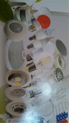 انواع لامپ حبابی در واتهای متفاوت و سنسور و چراغ م