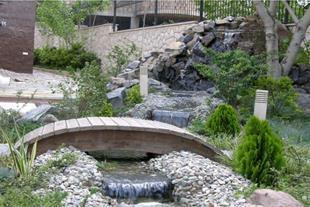 محوطه سازی - آبنما و نهر - آلاچیق - فضای سبز