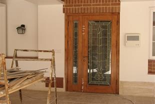 شیشه درب چوبی قم