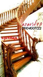 پله گرد چوبی ، پله گردون ، پله دوبلکس چوبی - 1