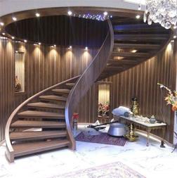 پله گرد چوبی - 1