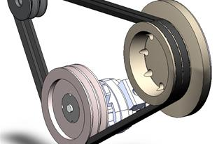 ساخت انواع پولی (فولی) تسمه V- Belt Pulleys