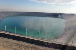 احداث استخرهای ذخیره آب کشاورزی پلیمری (ژئوممبران)