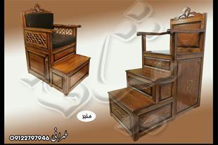 ساخت منبر مسجد منبر یک پله و منبر چوبی چند پله