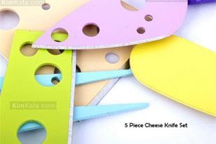 ✅ فروش ست کارد 5 تکه کارد پنیر خوری رنگی اورجینال