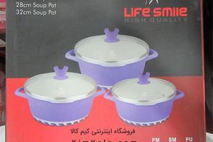 فروش سرویس قابلمه سرامیکی 6 پارچه Life Smile
