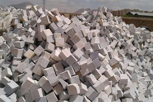 تولید انواع جدول سنگی- کفپوش تیشه ای- کوبیک