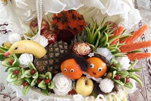 آموزش میوه آرایی و حکاکی سبزیجات ، ژله تزریقی