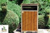 سطل زباله پارکی فلزی و چوبی