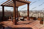 طراحی و ساخت آلاچیق مدرن چوب ترموود و فلزی