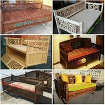فروش تخت سنتی چوبی و انواع سازه های چوبی
