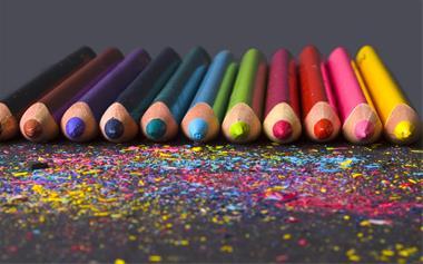 بسته بندی مداد رنگی روزنامه ای در منزل طرح ویژه - 1