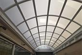 سقف پاسیو ثابت حیاط خلوت با دو پنل بازشو مدل SG1