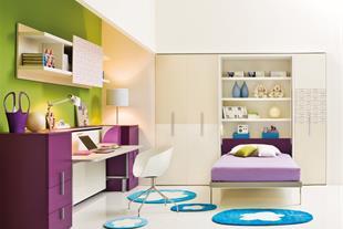 طراحی و تولید تخت کم جا ، کمجا ، تاشو دیواری-ویستا