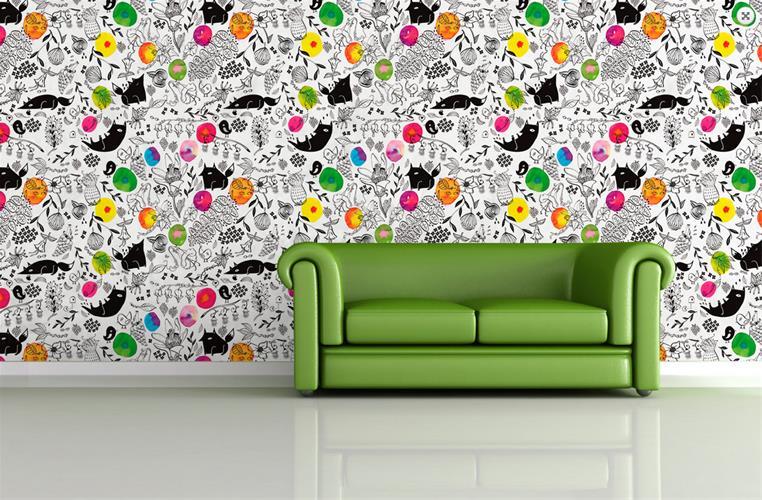قیمت خرید کاغذ دیواری ایرانی ، کاغذ دیواری سه بعدی - 3