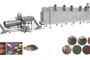 خطوط تولید خوراک آبزیان (غذای ماهی) ظرفیت 150kg تا