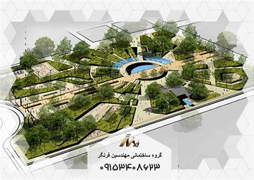 طراحی فضای سبز در مشهد - طراحی روف گاردن در مشهد - 1