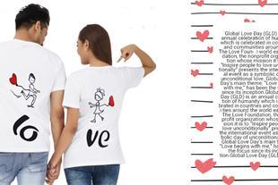 ست تیشرت زنانه و مردانه love + ارسال به کل کشور