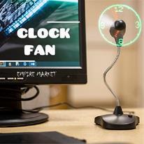 فن ساعت فانتزی استند دار LED Clock Fan