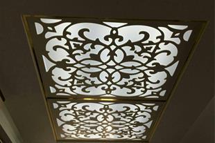 سقف کاذب معرق چوبی