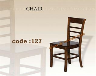 صندلی چوبی - میز و صندلی تمام چوب - 1
