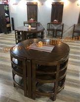 میز و صندلی چوبی رستوران