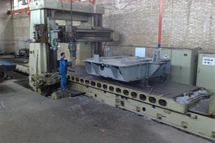 عملیات ماشینکاری توسط فرز دروازه ای 8 متر