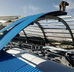 پوشش سقف و دیواره سوله - سقف شیروانی- ساندویچ پانل - پیش ساخته