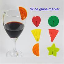 نشانگر 6 عددی سیلیکونی لیوان طرح میوه