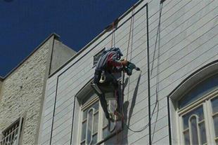 نورپرداری در ارتفاع با طناب صنعتی