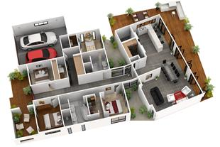 طراحی انواع نقشه ساختمانی