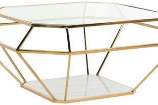میز جلو مبلی استیل مدل الماس
