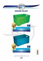 سبد و جعبه پلاستیکی گوشت ، مرغ ، ماهی و لبنیاتی