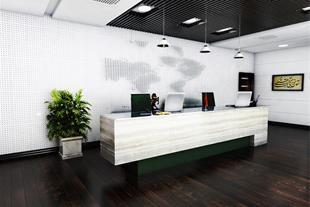 طراحی داخلی ساختمان اداری تری دی قیمت مناسب  ارزان